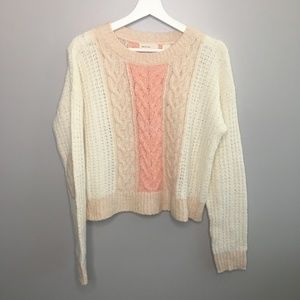 Sleeping on Snow Cable Knit Sweater